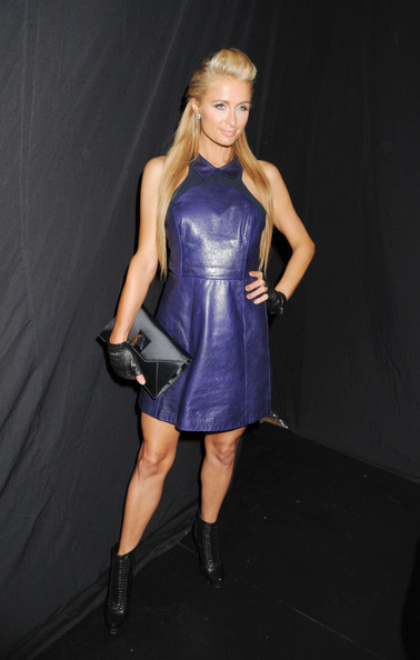Paris Hilton Leather Dress