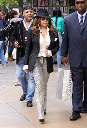 This stylish fedora was perfect for La Toya Jackson's playful yet powerful daytime look.