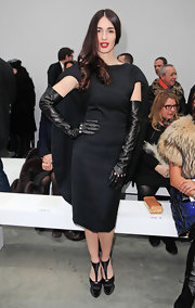 Paz Vega put a whole new spin on the LBD in this caped number at the Stephane Rolland couture show.