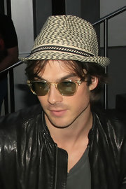 Ian loves to wear hats. The star looks super trendy in this stylish number.