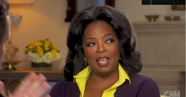 Oprah Winfrey looked stylishly retro with this bouffant during her interview with Piers Morgan.