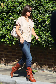 Pippa Middleton styled her hair in a straight shoulder length cut while out and about in London.