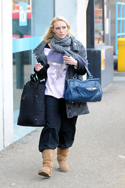 """Camilla Dellerup packs all of her dancing gear into her oversized Marc by Marc Jacobs """"Tate Tote""""."""