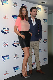 Lisa Snowdon looked oh-so-hot in her black leather mini skirt at the Capital FM Summertime Ball.