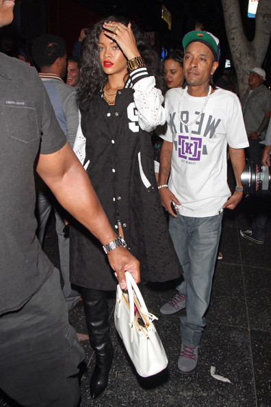 More Pics of Rihanna Leather Tote (1 of 25) - Rihanna Lookbook - StyleBistro