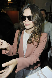Rachel Bilson looked great out on the town wearing a soft nude lipstick. The shade had a hint of pink and lots of shine.