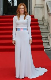 Rachel McAdams looked simply ethereal in a long-sleeve white top, which she paired with a flowing skirt and iridescent skirt.