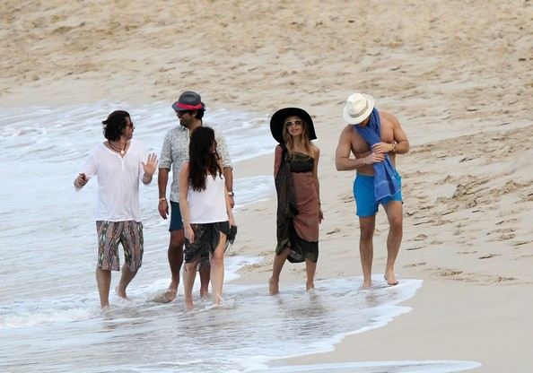 Rachel Zoe and Family in St. Barths
