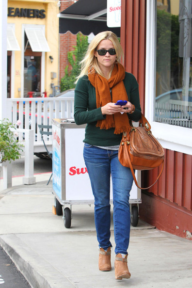 More Pics of Reese Witherspoon Ankle boots (8 of 11) - Reese Witherspoon Lookbook - StyleBistro