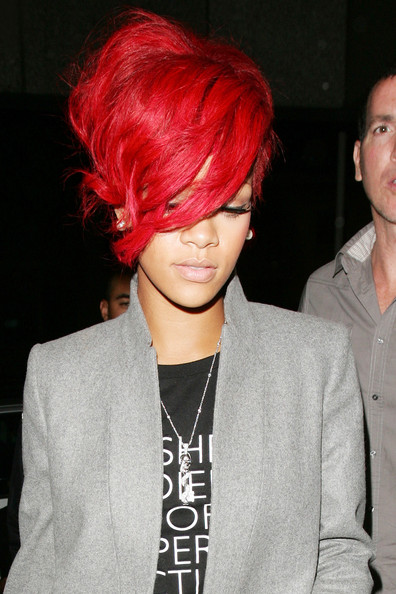 french twist for short hair. Rihanna Hair