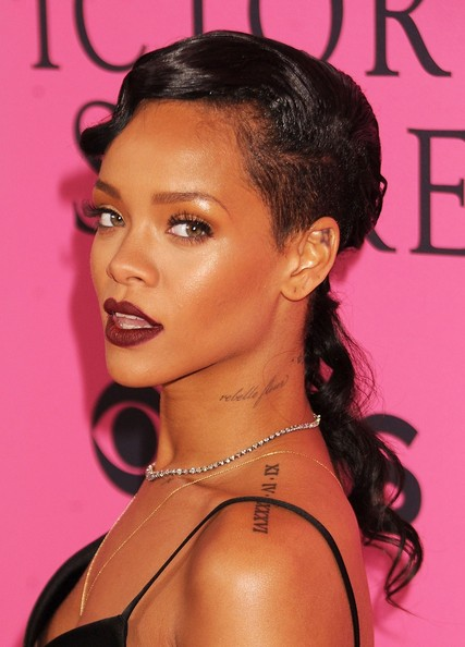 Rihanna Pinned Up Ringlets
