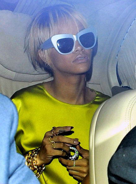 More Pics of Rihanna Cateye Sunglasses (1 of 14) - Cateye Sunglasses Lookbook - StyleBistro