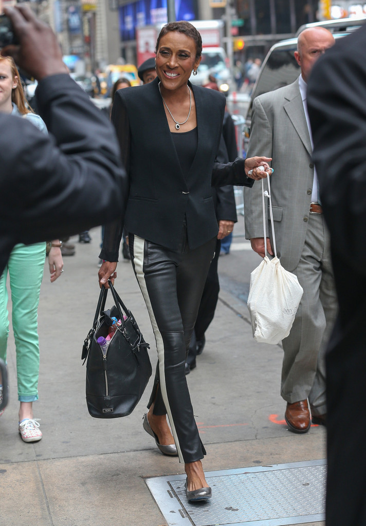 Robin Roberts Leather Pants Leather Pants Lookbook