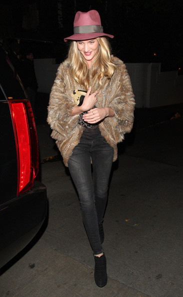 Rosie Huntington-Whiteley Fur Coat