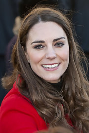 Kate Middleton added a little drama to her look with a light application of smoky liner.
