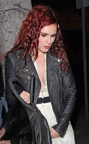 Rumer Willis wore her hair in messy spirals while out in Hollywood.