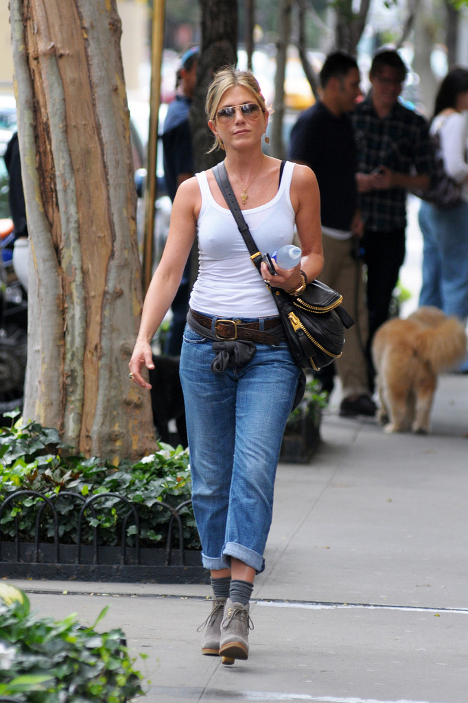 More Pics Of Jennifer Aniston Lace Up Boots 5 Of 8