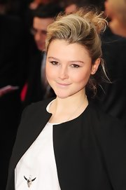Amber Atherton arrived at the premiere of 'The Dictator' wearing her hair in a casual messy updo.