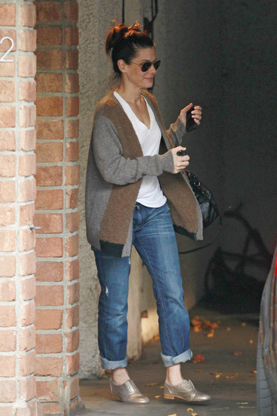 Sandra Bullock Flat Oxfords