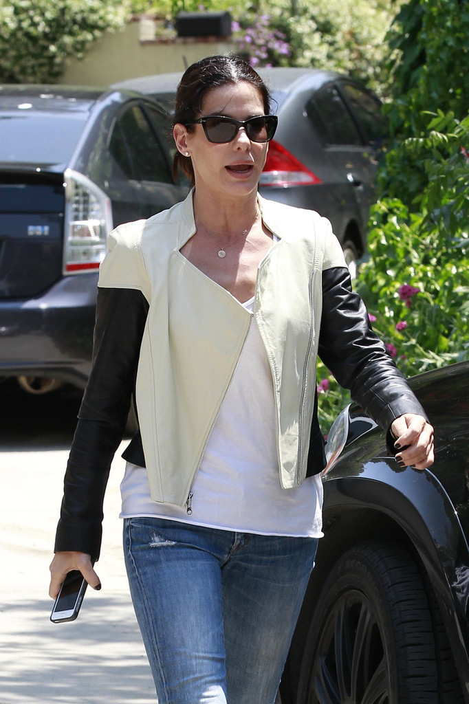 More Pics Of Sandra Bullock Ripped Jeans 4 Of 20