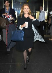 Sarah Ferguson arrived at 'The Today Show' for a guest appearance carrying a blue leather tote.