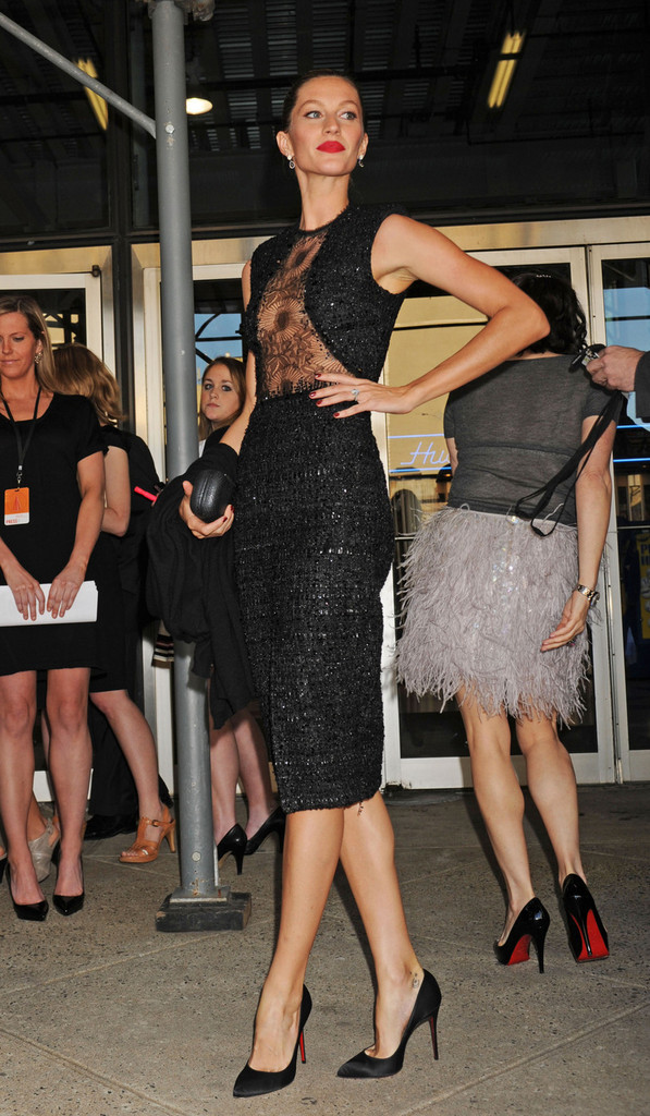Gisele Bundchen arriving the the Robin Hood Foundation Gala in New York.