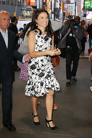 Julia Louis-Dreyfus sported a pair of heeled Mary Janes while appearing on 'Good Morning America.'