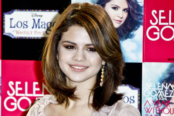 Selena Gomez Gold Dangle Earrings