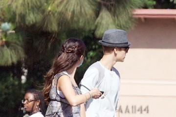 "Selena Gomez Justin Bieber Selena Gomez Films ""Parental Guidance"" in Los Angeles"