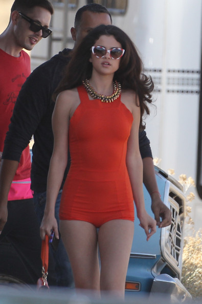 Selena Gomez on Set in Palmdale