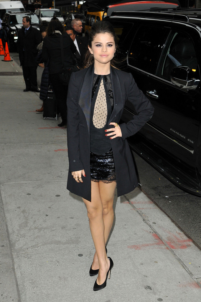 Selena Gomez's Short LBD and Long Blazer
