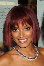 Selita Ebanks is the newest celeb to debut red tresses. The model attended the launch of Carol's Daughter rockin' a fierce blunt cut bob and bangs.