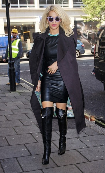 More Pics of Rita Ora Leather Dress (1 of 10) - Rita Ora Lookbook - StyleBistro