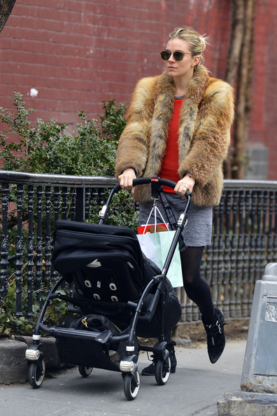Sienna Miller Pushes a Stroller Through NYC