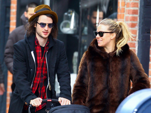 Sienna Miller and Tom Sturridge Take Their Daughter for a Walk