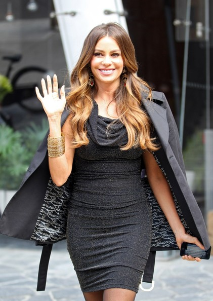 Sofia Vergara makes her way to KMart to promote her fall fashion line in New York City
