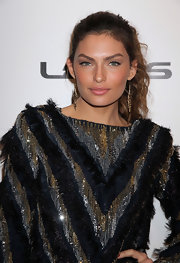 Alyssa Miller attended a 'Sports Illustrated' event in Las Vegas wearing her wavy hair in a casual ponytail.