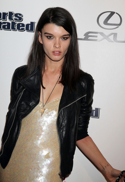 More Pics of Crystal Renn Leather Jacket (1 of 2) - Outerwear Lookbook - StyleBistro []
