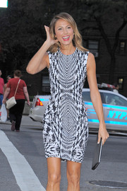 Stacy Keibler wowed during New York Fashion Week in a black-and-white houndstooth-print sheath.