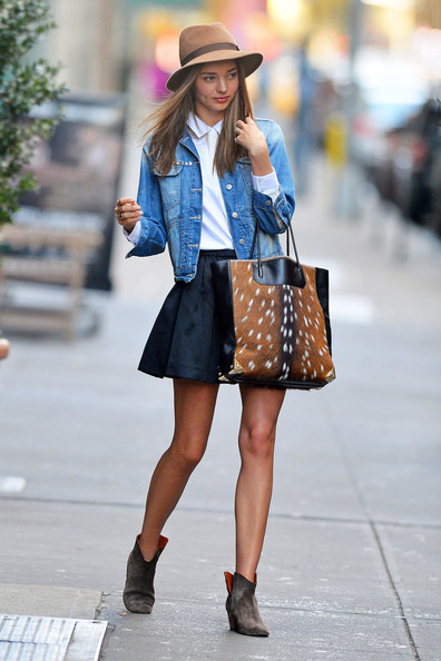 More Pics of Miranda Kerr Denim Jacket (2 of 8) - Miranda Kerr Lookbook - StyleBistro