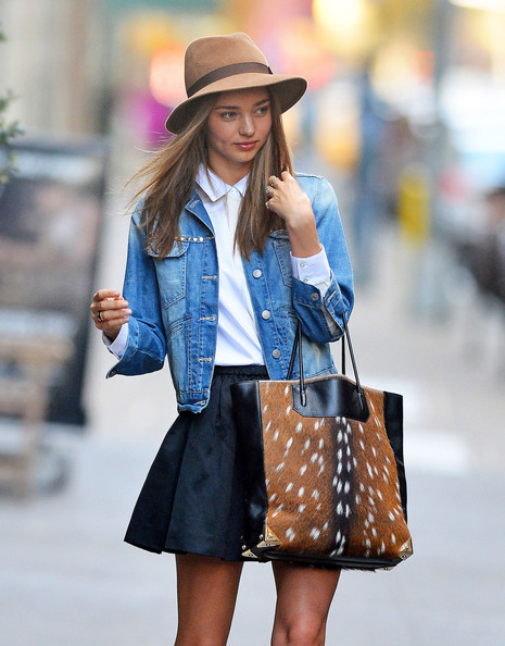 More Pics of Miranda Kerr Denim Jacket (5 of 8) - Miranda Kerr Lookbook - StyleBistro