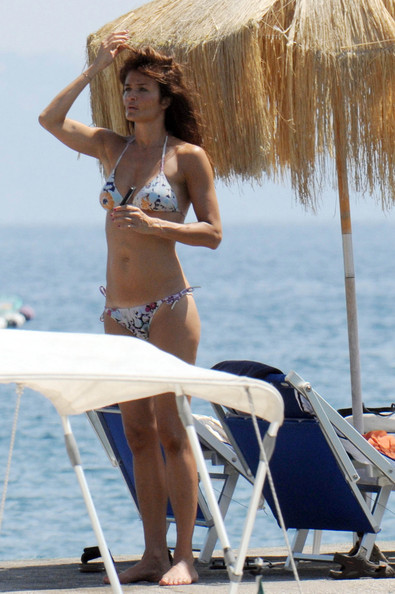 More Pics of Helena Christensen Bikini (1 of 18) - Helena Christensen Lookbook - StyleBistro