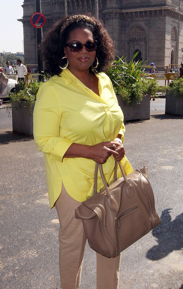 More Pics of Oprah Winfrey Leather Tote (1 of 8) - Oprah Winfrey Lookbook - StyleBistro
