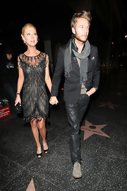 Tara glammed it up in Hollywood wearing an Art Deco beaded cocktail dress while out for dinner with her beau.