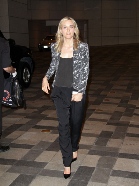 Taylor Schilling Cropped Jacket []