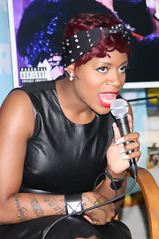 Fantasia Barrino rocked a studded headband at a show held in NYC.