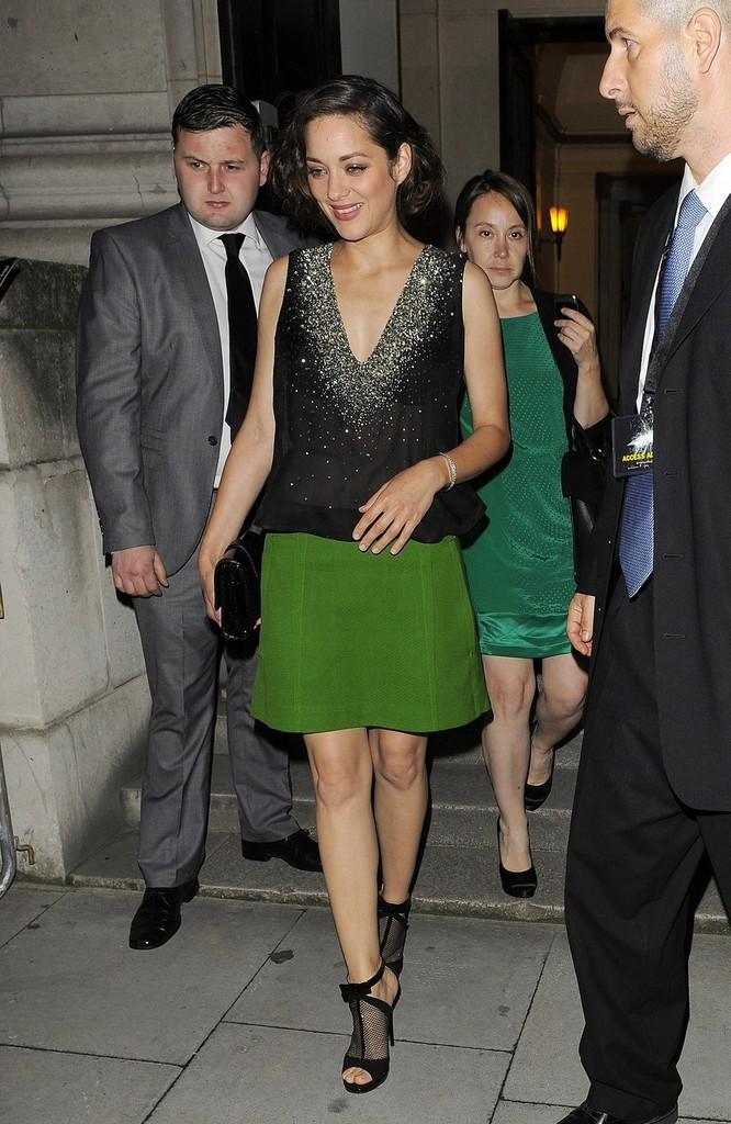 Marion+Cotillard in Tom Hardy seen at the premiere after party held at the Freemason's Hall in Covent Garden in London