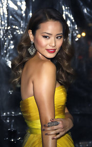 Actress Jaime Chung paired her canary yellow gown with mushroom hued nails at the premiere of 'Sucker Punch.'