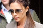 Sunday April 28. Victoria Beckham arrives to give a talk about her life as part of the 2013 Vogue Festival at the Southbank in London.