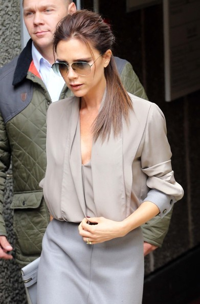 More Pics of Victoria Beckham Ponytail (1 of 9) - Victoria Beckham Lookbook - StyleBistro